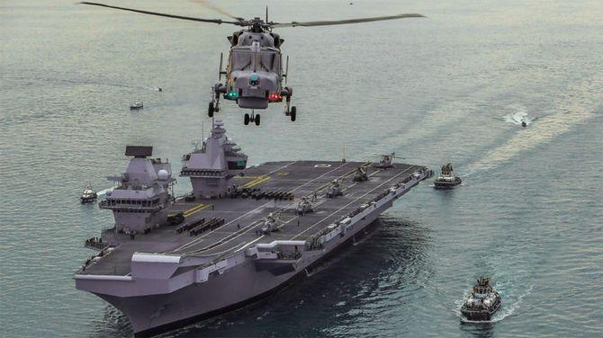 英政府がインド太平洋への派遣を発表した空母「クイーン・エリザベス」