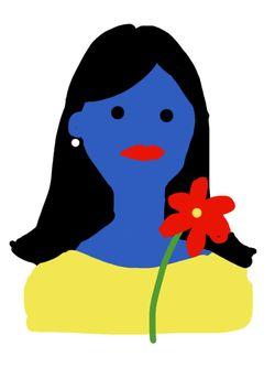 笛美さんの自画像=笛美さん提供