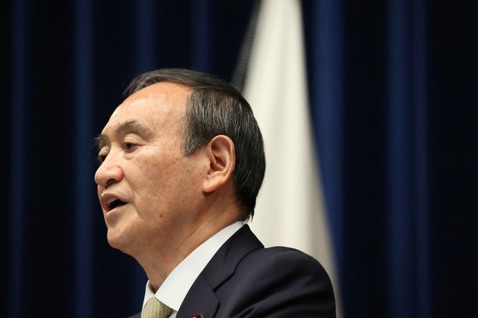 3度目の緊急事態宣言を発出し、会見する菅義偉首相=2021年4月23日、首相官邸[代表撮影]