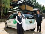 松山の「富士タクシー」も、アイ・ミーブを購入した。「可愛い車なのでドライバーは女性」と同社の加藤忠彦社長は語る。