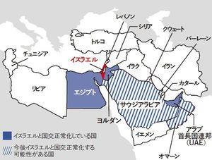 アメリカを背景に、イスラエルと親米アラブ諸国の結びつきが拡大している。