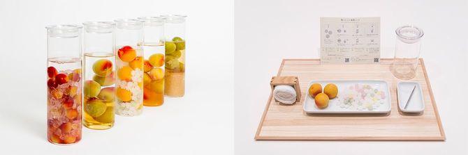 (左)完成イメージ(右)梅酒体験専門店「蝶矢」の体験キット。