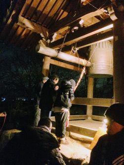 昨年の除夜の鐘の風景