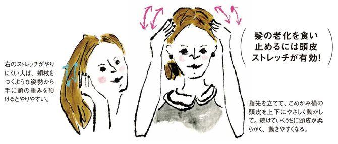 髪の老化を食い止めるには頭皮ストレッチが有効!