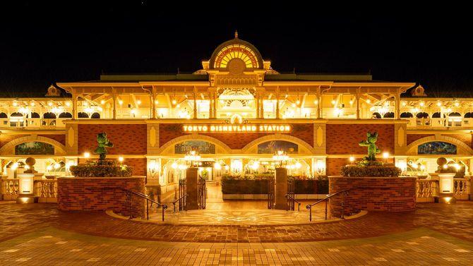 夜の東京ディズニーシー・ステーション