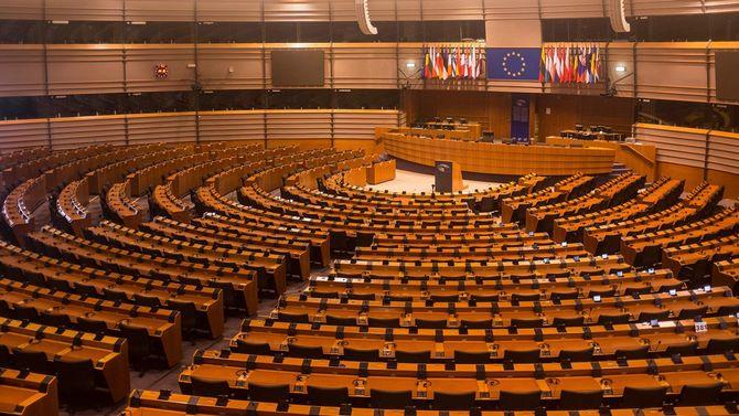 ベルギー・ブリュッセルにある欧州議会の議場