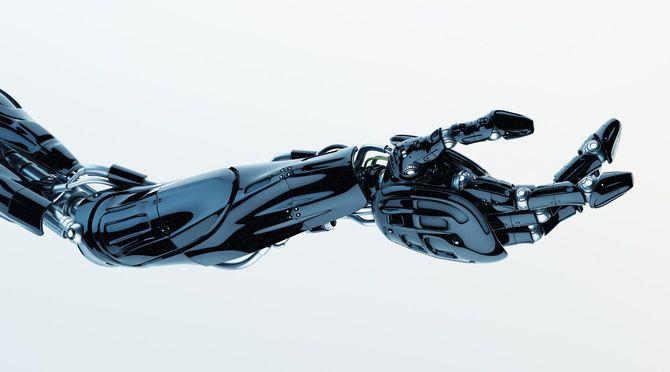 未来の技術:黒い義手