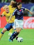 ドイツW杯でMVPを取った澤穂希選手。リーダーとしてチームをまとめた。(AFLO=写真)