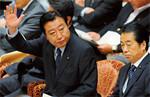 来年度の概算要求でペイゴー原則導入の考えを示した野田佳彦財務相。(PANA=写真)