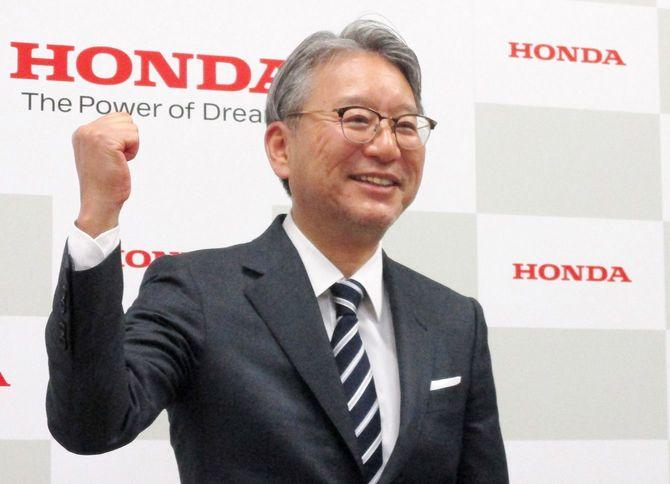 ホンダの次期社長に決まった三部敏宏専務=2021年2月19日、東京都港区の同本社