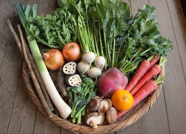 坂ノ途中でネット販売している有機野菜の詰め合わせの一例(Mサイズ相当)