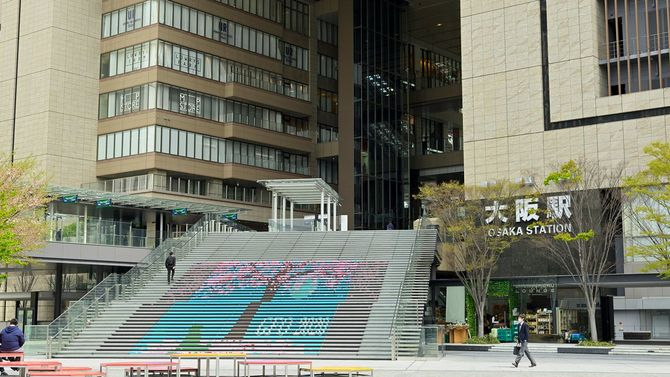 非常事態宣言後の大阪駅