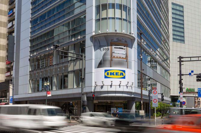 5月1日にオープンしたIKEA新宿。新宿三丁目駅の近く、甲州街道沿いにある