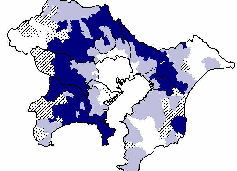 今年も1年お疲れ~首都圏「遠距離痛勤率」マップ