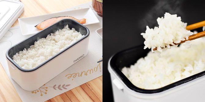 サンコーの「おひとりさま用 超高速弁当箱炊飯器
