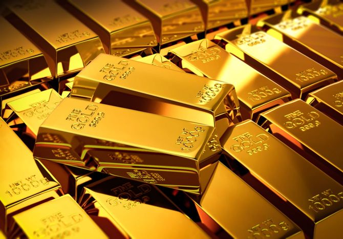ゴールドのバー
