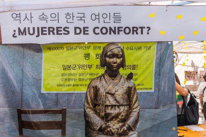 2019年11月3日、アルゼンチン・ブエノスアイレスに設置された慰安婦像