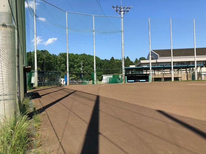 東洋大牛久高校野球部の練習場