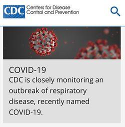 「COVID-19」と名づけられた新型コロナウイルス(CDCウェブページより)