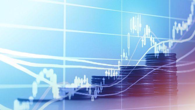 米ドルコインと金融株式市場投資デジタル取引グラフ