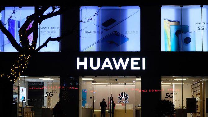 2020年4月、上海のファーウェイ旗艦店