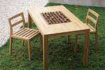 ワイス・ワイスの「SATOYAMA」シリーズは国産栗材の木片で作った集成材を使用。2万6250円~。