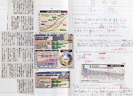 新聞記事を元に自家製問題集作り