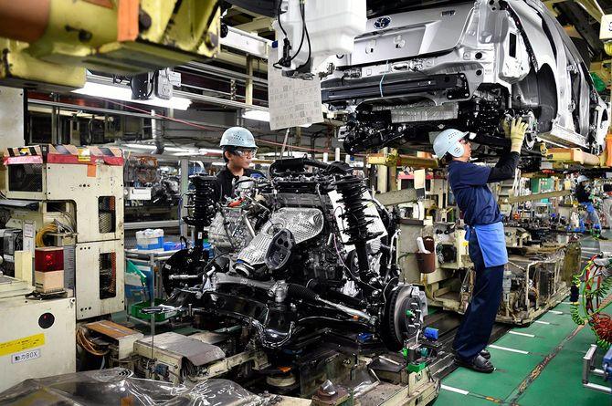 愛知県豊田市にあるトヨタ自動車の工場