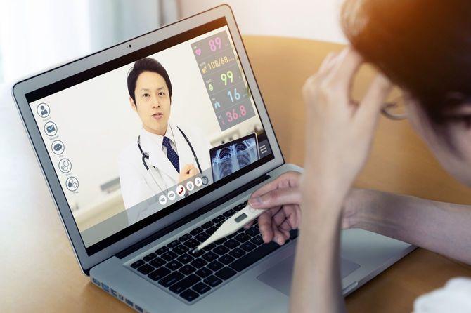 オンライン診療のPC画面