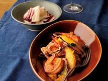 柑橘が香る地中海風「イカと海老のオレンジトマト煮」のレシピ