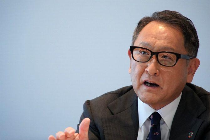 9月24日、リモート会見を行った日本自動車工業会会長でトヨタ自動車社長の豊田章男氏。