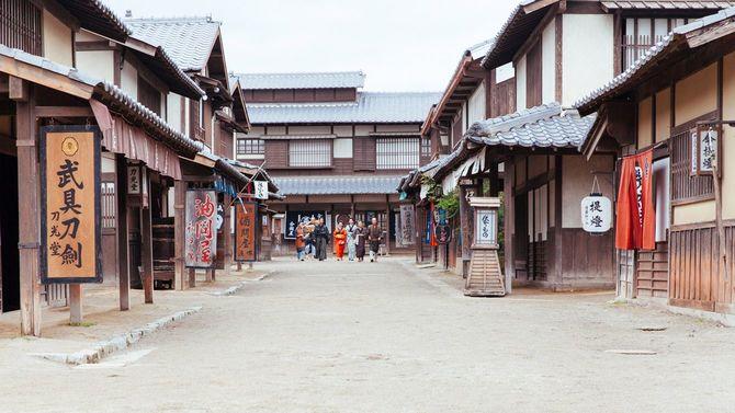 江戸時代の街並みの再現