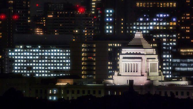 国会ビルディング日本での夜