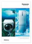 イギリスで配布されているパナソニックの冷凍冷蔵庫と洗濯機の商品カタログ。