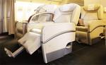 ファーストクラスは普通席3席分のスペースとのこと(JAL)。