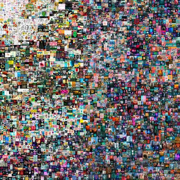 2021年3月10日に6930万ドル(約75億円)の値が付いたビープルのデジタル作品「Everydays:The First 5000 Days」