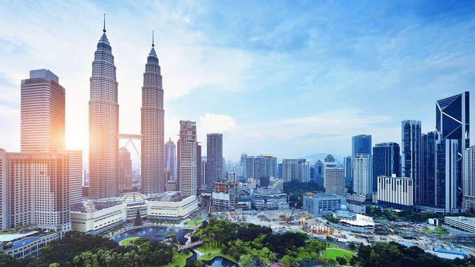 クアラルンプールの都会の風景、マレーシア