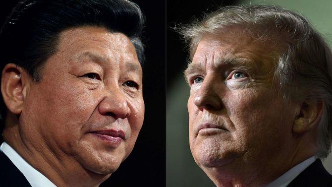 2020年5月14日、中国の習近平国家主席(左)とトランプ米大統領。