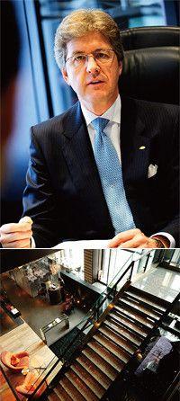ハッシング総支配人率いるマンダリン・オリエンタル東京は、旅館との相互集客システムや、日本の伝統芸能を取り入れた和のおもてなしに力を入れる。