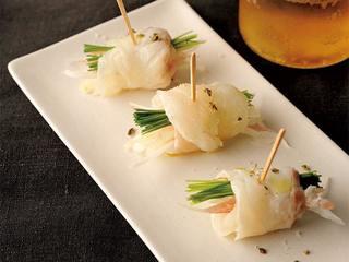 真鯛と香味野菜のピンチョスのレシピ