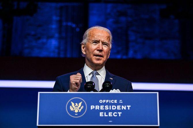 デラウェア州ウィルミントンで演説するジョー・バイデン次期大統領(2020年11月24日)