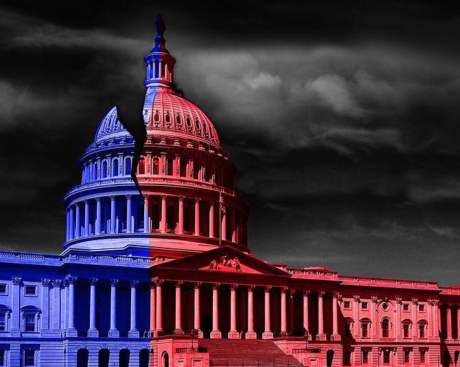 ワシントンDC議事堂は政治を分断した