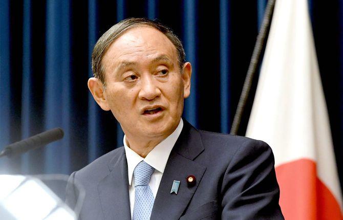記者会見する菅義偉首相=2021年8月17日、首相官邸[代表撮影]