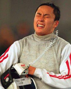 太田雄貴●北京五輪で日本人初の五輪メダル(銀メダル)を獲得した。五輪前にスランプがあったが負けた試合の映像を見直して克服した。