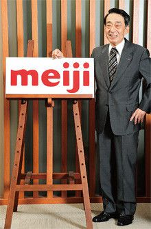 明治ホールディングス代表取締役社長<br><strong>佐藤尚忠</strong><br>1940年生まれ。64年慶應義塾大学経済学部卒業後、明治製菓入社。95年取締役に就任。常務取締役などを経て、2003年社長就任。就任当時から「強くておもしろい会社」づくりを目指す。09年4月より明治ホールディングス社長を兼務。