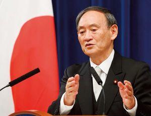 第99代内閣総理大臣菅義偉。