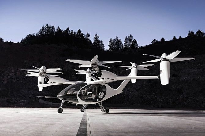 Joby Aviation社の電動垂直離着陸機「eVTOL」。トヨタは同社に3.94億ドルを出資した