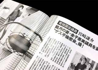 「自民党不倫」辞める宮崎、辞めない中山
