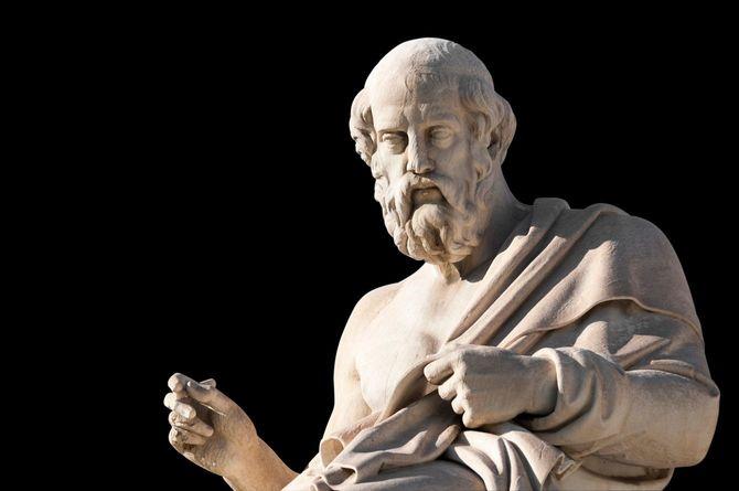 古代ギリシアの哲学者プラトンの彫像