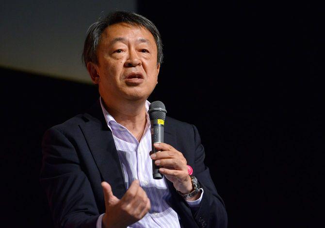 国連が「国際ガールズ・デー」に制定した2015年10月11日、都内で開催されたイベント「羽ばたけ!世界の女の子」のトークショーに参加したジャーナリストの池上彰さん(東京都渋谷区の国連大学)